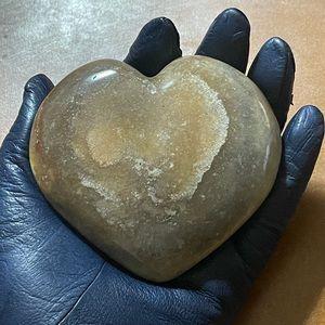 Ocean Jasper Hand Carved Heart